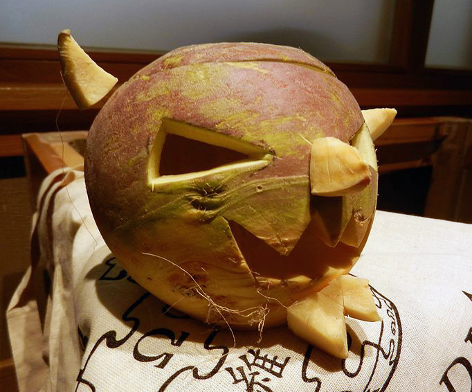 carved turnip for turnip fries recipe